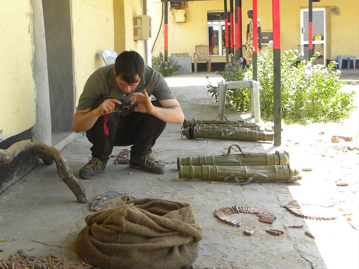Documenting ammunition in South Sudan