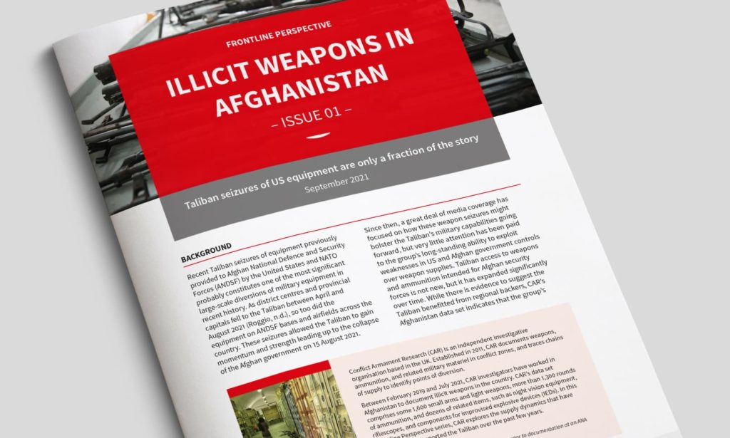 Illicit weapons in Afghanistan